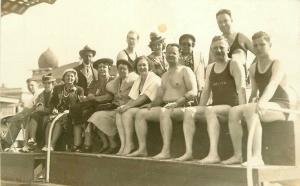 1920s Saltair Salt Lake Utah Group Photo RPPC Postcard 3575