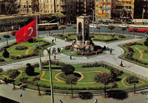 Turkey Istanbul ve Guzellikleri Taksim and Republik Denkmal, Monument, flag