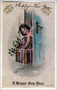 New Years - Girl with a Basket