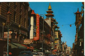 America Postcard - Grant Avenue - Chinatown - San Francisco - Ref 8122A