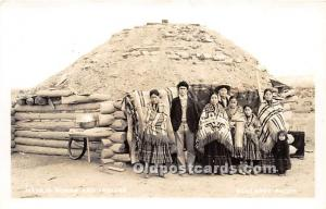 Navajo Hogan and Indians Mullarky Photo Unused