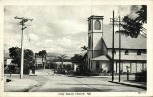 fiji islands, SUVA, Holy Trinity Church (1930s) Naval Censor