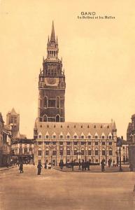 Gand Belgium, Belgique, Belgie, Belgien Le Beffroi et les Halles Gand Le Beff...