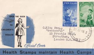 Wellington Hospital Childrens Health Stamps Postmark 1958 New Zealand FDC