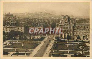 Old Postcard Paris Strolling Perspective on Tuileries Gardens Montmartre and ...