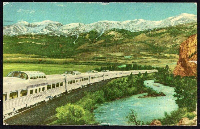 42320) CALIFORNIA ZEPHYR Diesel-Powered Stainless Steel Train - pm1958 - Chrome