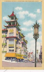 California San Francisco Chinatown Business District Street Scene