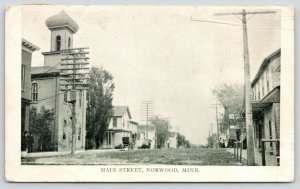 Norwood Minnesota~Main Street~Livery-Meat Market~Downtown Shopping~1909