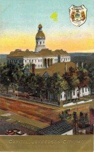 Capitol Jefferson City Missouri MO Pre-Fire Embossed Gold Accent Unused Postcard