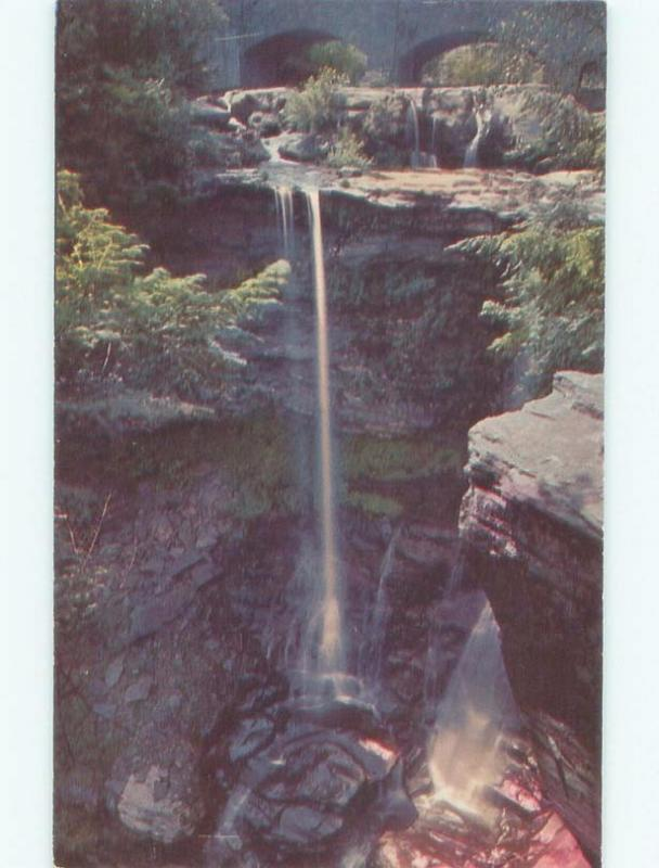 Pre-1980 WATERFALL Haines Falls - Near Tannersville & Woodstock NY E4213