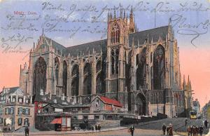 France Metz Dom Cathedral Street Tram