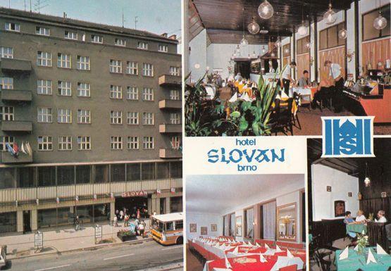 Hotel Slovan BRNO Interhotel Slovakia Postcard