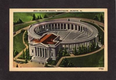 VA Arlington Memorial Amphitheater VIRGINIA Postcard PC