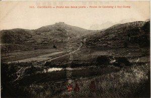 CPA AK INDOCHINA Cao Bang Poste des deux ponts VIETNAM (956591)