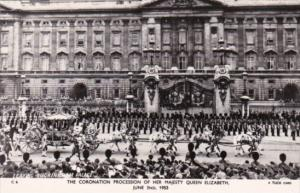 Coronation Procession Of Her Majesty Queen Elizabeth 2 June 1953 Real Photo T...