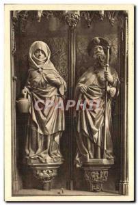 Old Postcard Rothenburg Figuren aus dem Hauptaltar