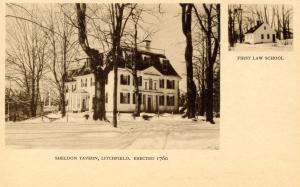 CT - Litchfield.  Sheldon Tavern; First Law School