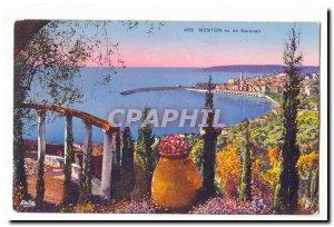 Menton Garavan saw Old Postcard