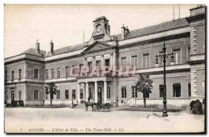 Old Postcard The city of Angers hotel the town hall