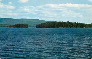 Bristol New Hampshire~Newfound Lake~Belle Island~Cliff Island~1958 Postcard
