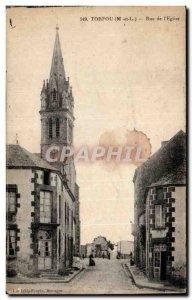 Torfou - Street Church - Old Postcard