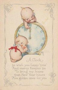 Kewpies ; NEW YEAR Clock , 1925 AS Rose O'Neill