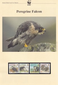 Peregrine Falcon WWF Stamps and Set Of 4 First Day Cover Bundle