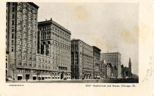 IL - Chicago. Auditorium and Annex circa 1900