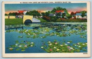 Postcard DE Rehoboth Beach Delaware Bridge Over Lewes & Rehoboth Canal X5