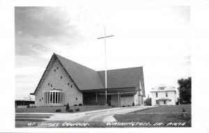 Washington IA~Before Trees~St James Church~American Square Parsonage?~1950s~RPPC