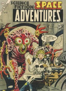1950s Space Adventures Comic Book Time Travel Monster Postcard
