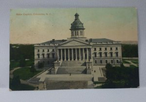 Vintage State Capital, Columbia, SC Postcard Capital Building Dated 1911 USED!