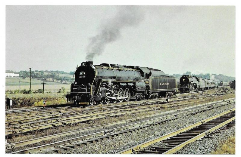Reading Railroad Locomotive 2100 waiting for 2124 Rutherford