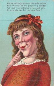 Fantasy Postcard Funny Ugly Woman 05.70