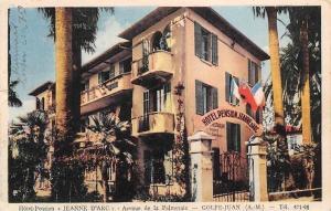 France Golfe-Juan (A M) Hotel-Pension Jeanne d'Arc Avenue de la Palmeraie 1949