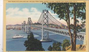 California San Francisco-Oakland Bay Bridge From Yerba Buena Island