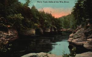 Navy Yard, Dells of the Wisconsin River, WI, 1912 Vintage Postcard f6637