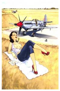 Vintage Repro Postcard c1940s WW2 Army Weekly Magazine Pin Up Girl No.2 K28