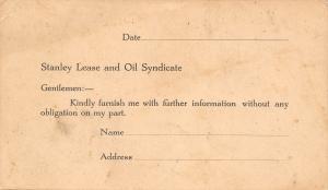 Waterloo IA~Stanley Lease & Oil Syndicate~Leavitt & Johnson Bldg Pre-1907 Postal