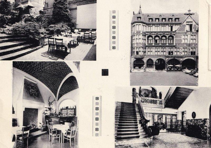 Hotel Des Comtes D'Harscamp Namur Real Photo Postcard