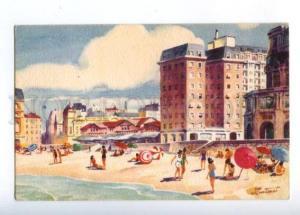 173371 ARGENTINA Playa Bristol by Martinel Vintage postcard