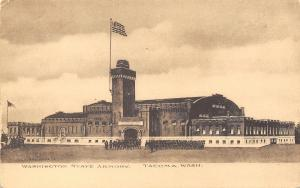 Tacoma Washington~National Guard State Armory~Soldiers~Parade~1908 Albertype PC