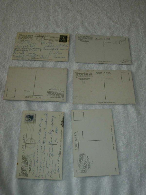 Glendale CA - Lot Of 6 Forest Lawn Vintage Postcards - x0339