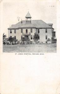 D74/ Perham Minnesota Mn Postcard 1907 St James Hospital Building