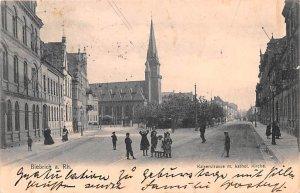 Kaiserstrasse m Kathol Kirche Biebrich Germany 1904