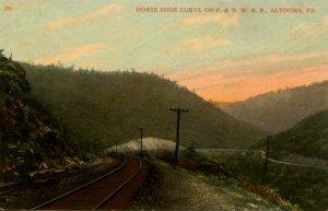 PA - Altoona. Horse Shoe Curve, Pennsylvania & Northwestern RR