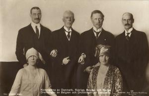 Kings of Denmark, Sweden, Belgium and Norway, Queens of Belgium and Denmark 1920