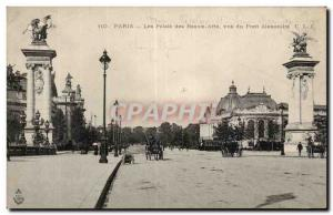 Paris Old Postcard Palace of Fine Arts Alexander bridge seen