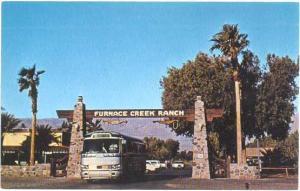 Furnace Creek Gate, Death Valley National Monument,, California, CA Chrome