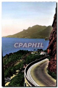 Modern Postcard Route De La Corniche D & # 39Or Trayas Vu Du Col De I & # 39E...